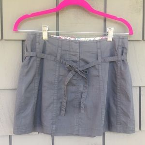 FRENCH CONNECTION gray mini skirt size 4